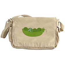 Green World Peas Messenger Bag