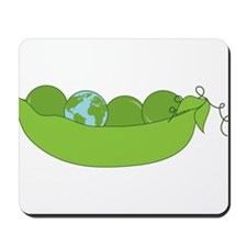 Green World Peas Mousepad