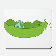 Green World Peas Mousepad
