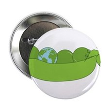 "Green World Peas 2.25"" Button"