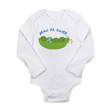 Peas On Earth Long Sleeve Infant Bodysuit