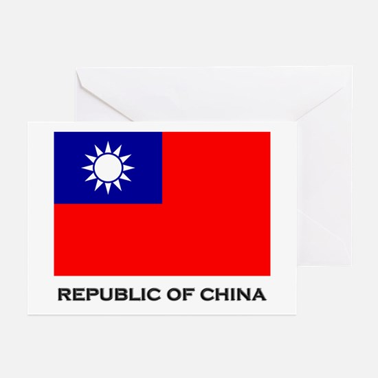The Republic Of China Flag Stuff Greeting Cards (P