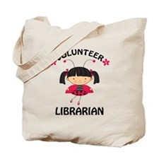 Volunteer Librarian Ladybug Tote Bag
