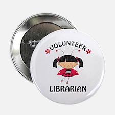 "Volunteer Librarian Ladybug 2.25"" Button"