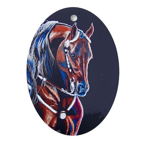 Western Pleasure Star Ornament (Oval)