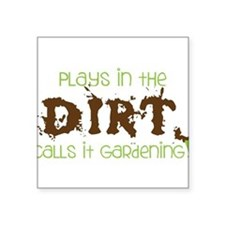 """Dirty Dirt Square Sticker 3"""" x 3"""""""