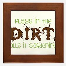 Dirty Dirt Framed Tile