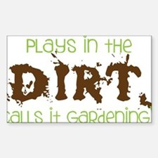 Dirty Dirt Sticker (Rectangle)