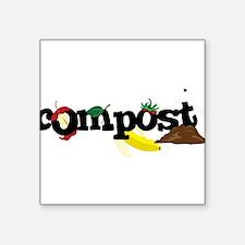 """Compost Square Sticker 3"""" x 3"""""""
