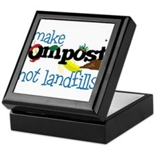 Make Compost Not Landfills Keepsake Box