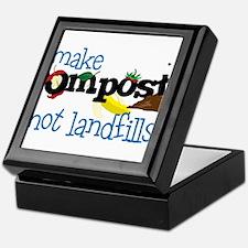 Make Compost Not Landfills Keepsake Box