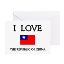 I Love The Republic Of China Greeting Cards (Packa
