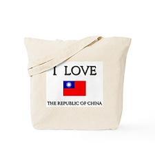 I Love The Republic Of China Tote Bag