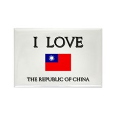 I Love The Republic Of China Rectangle Magnet