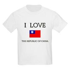 I Love The Republic Of China Kids T-Shirt