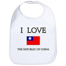 I Love The Republic Of China Bib