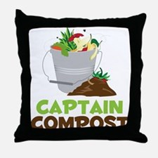 Captain Compost Throw Pillow