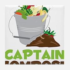 Captain Compost Tile Coaster