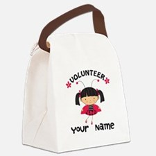 Personalized Volunteer Librarian Canvas Lunch Bag
