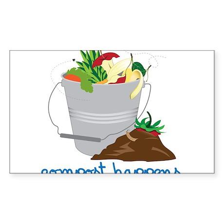 Compost Happens Sticker (Rectangle)