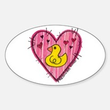 Ducky Love Oval Decal
