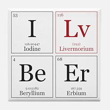 I Lv BeEr [Chemical Elements] Tile Coaster