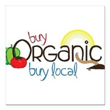"Buy Organic Square Car Magnet 3"" x 3"""