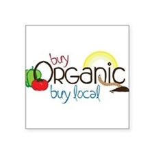 "Buy Organic Square Sticker 3"" x 3"""