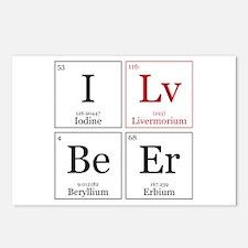 I Lv BeEr [Chemical Elements] Postcards (Package o