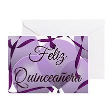 Feliz Quinceanera - Happy Birthday - Greeting Card