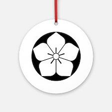 Balloon flower in rice cake Ornament (Round)