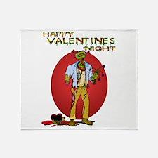 Zombie Valentines Day Throw Blanket