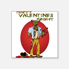"Zombie Valentines Day Square Sticker 3"" x 3"""