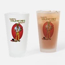 Zombie Valentines Day Drinking Glass