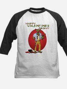 Zombie Valentines Day Kids Baseball Jersey
