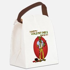 Zombie Valentines Day Canvas Lunch Bag