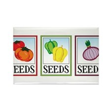 Seed Packets Rectangle Magnet