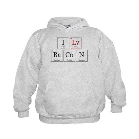 I Lv BaCoN [I Love Bacon] Kids Hoodie
