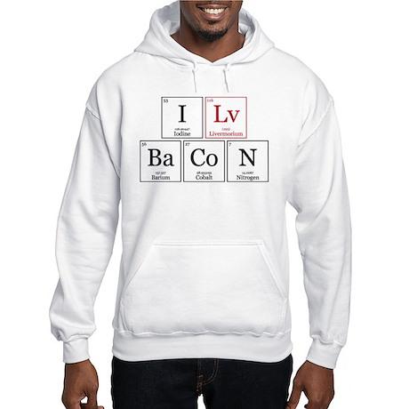 I Lv BaCoN [I Love Bacon] Hooded Sweatshirt