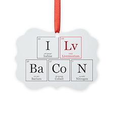 I Lv BaCoN [I Love Bacon] Ornament