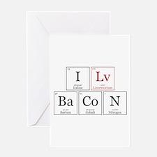 I Lv BaCoN [I Love Bacon] Greeting Card