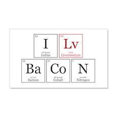 I Lv BaCoN [I Love Bacon] Wall Decal