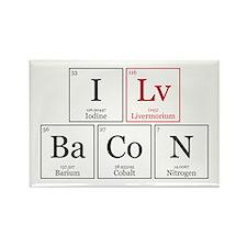 I Lv BaCoN [I Love Bacon] Rectangle Magnet