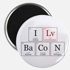I Lv BaCoN [I Love Bacon] Magnet