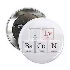 """I Lv BaCoN [I Love Bacon] 2.25"""" Button"""