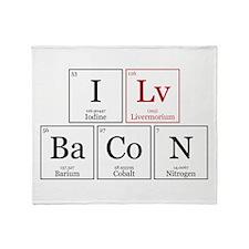 I Lv BaCoN [I Love Bacon] Throw Blanket