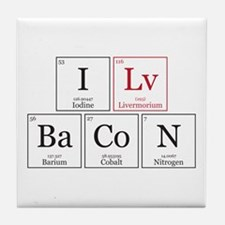 I Lv BaCoN [I Love Bacon] Tile Coaster