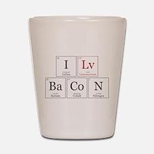 I Lv BaCoN [I Love Bacon] Shot Glass