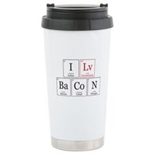 I Lv BaCoN [I Love Bacon] Travel Mug