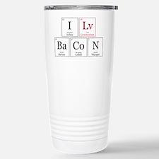 I Lv BaCoN [I Love Bacon] Travel Mug